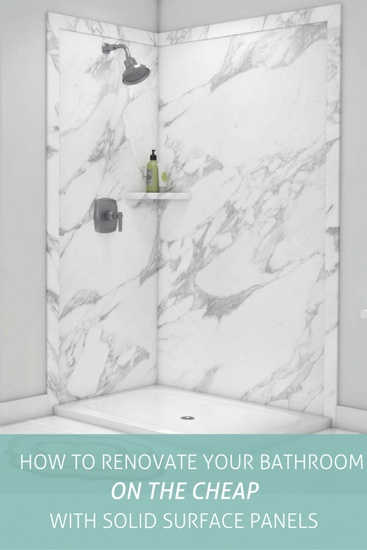 Renovate Your Bathroom On A Budget! Solid Surface Shower