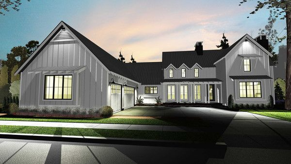 1 1 2 Story Modern Farmhouse House Plan Summerfield Modern Farmhouse Plans Farmhouse Style House House Plans Farmhouse