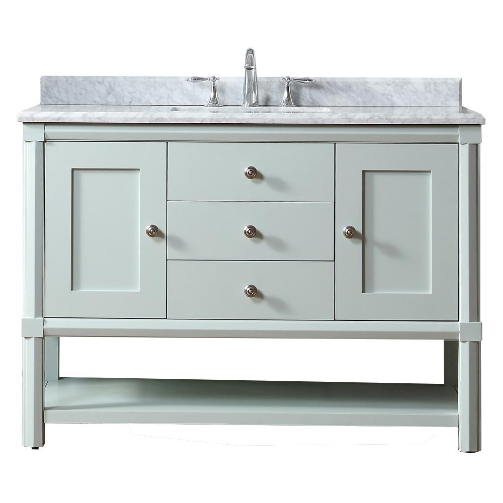 martha stewart living sutton 48 in w x 22 in d vanity in rainwater rh pinterest com