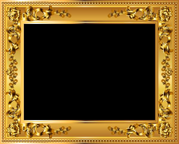 Gold Deco Border Frame Transparent Png Image Frame Picture Frame Designs Gold Frame