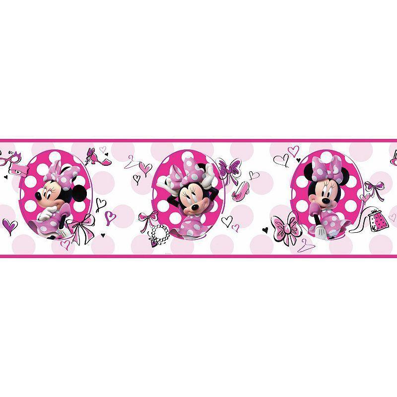 Disneys Minnie Mouse Fashionista Wall Border Pink