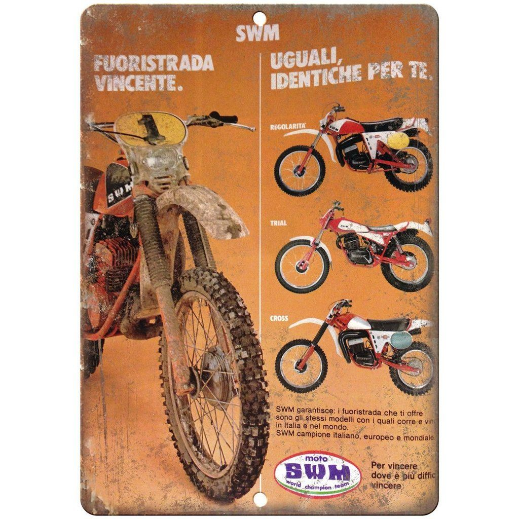 """1943 Dirt Bike Magazine Cover Ad 10/"""" x 7/"""" Reproduction Metal Sign A457"""