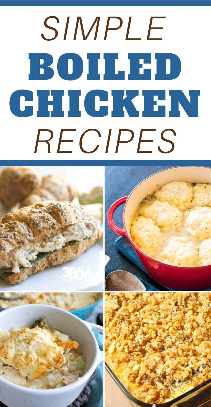 Simple Boiled Chicken Recipes images
