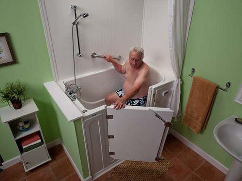 Outward Opening Walk In Bathtub With Shower | Laguna Walk In Bathtub |  Disabled Bathing