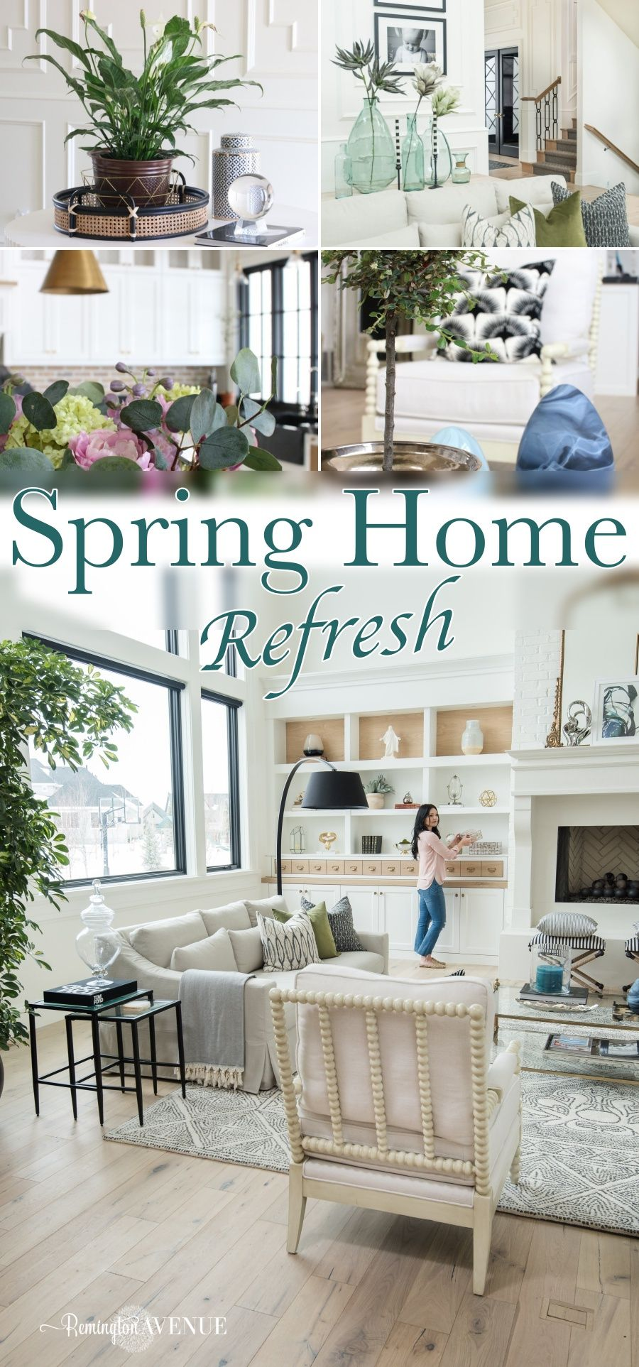 spring home tour with fresh greens home is where the heart is rh pinterest com