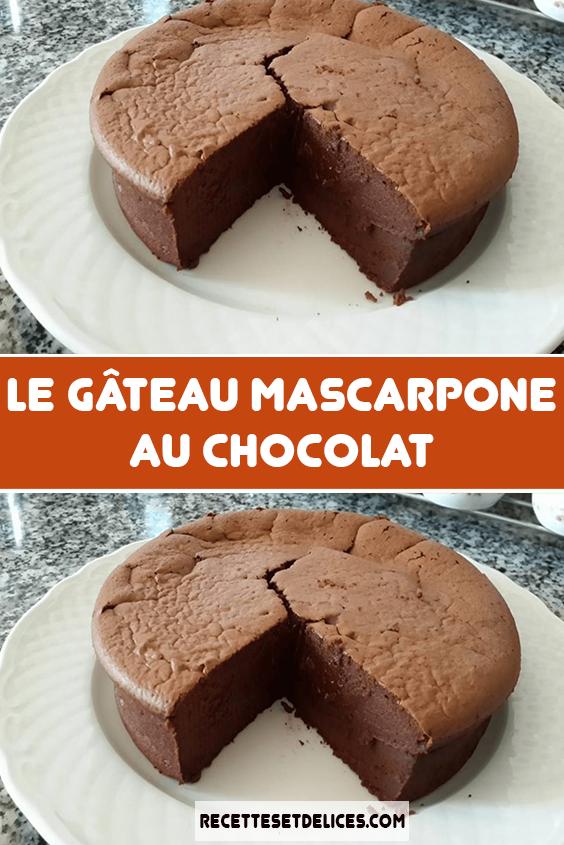Le gâteau mascarpone au chocolat