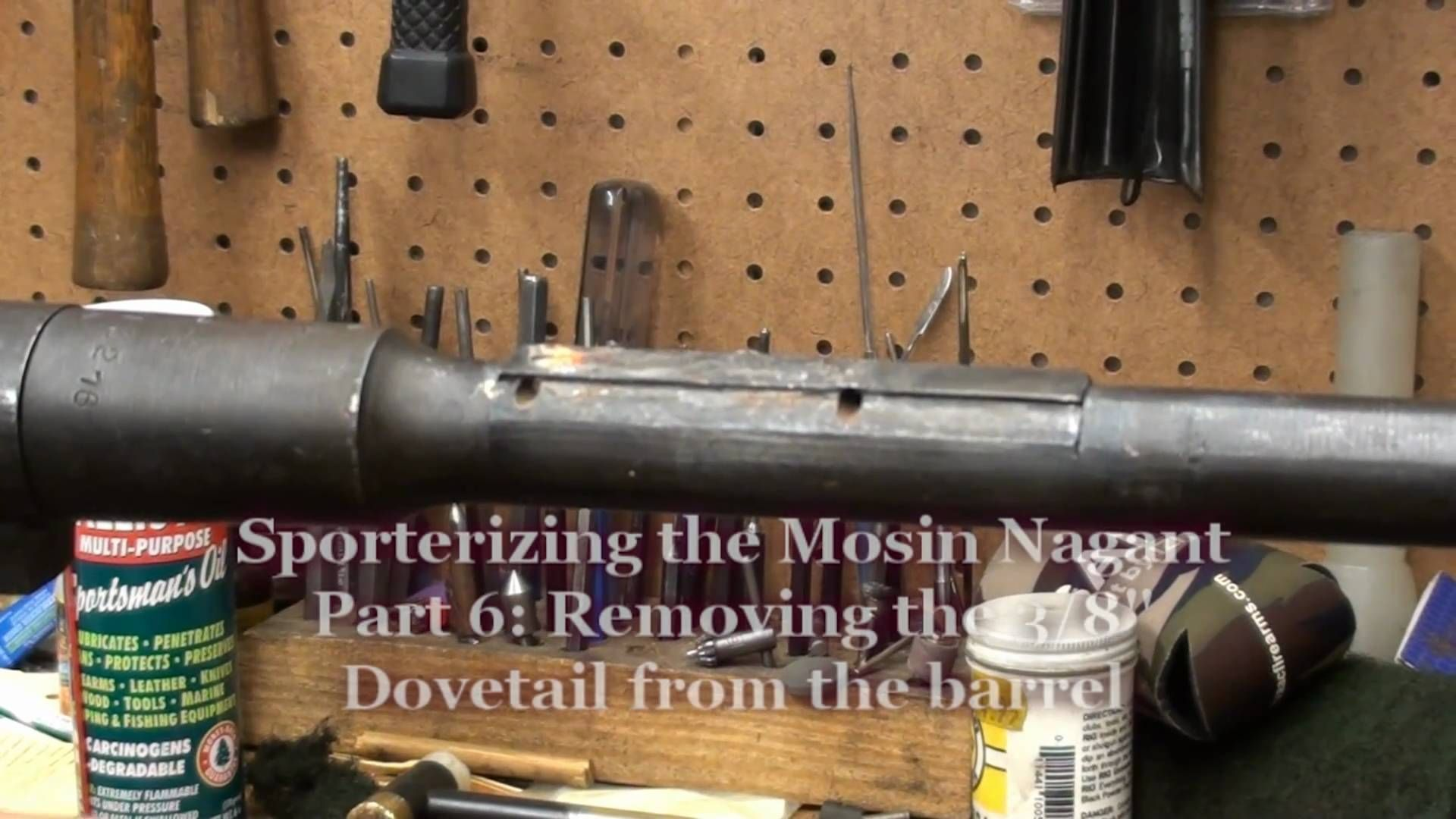 Sporterizing the Mosin Nagant Part 6- Finishing up metal work and applyi.