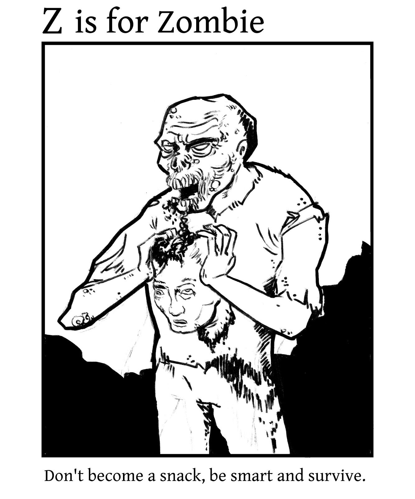 The Archives of Perpetual Intrigue Zombie coloring book