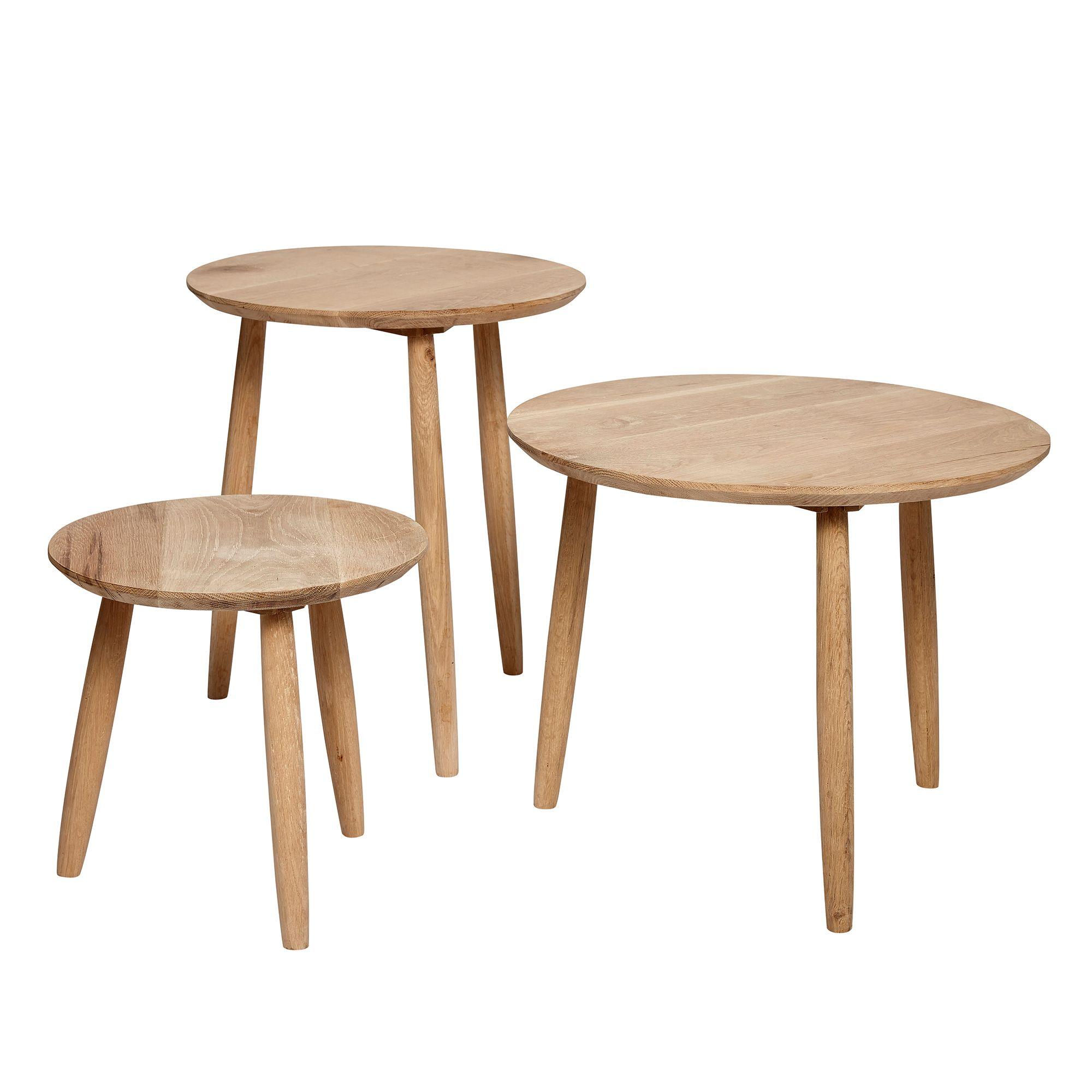 Beistelltisch Oak M Runder Beistelltisch Aus Eichenholz M Beistelltisch Eiche Beistelltisch Rund Tisch
