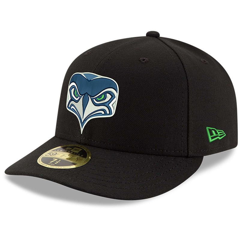 f106a820a2b6ed Seattle Seahawks New Era Omaha Low Profile 59FIFTY Fitted Hat - Black