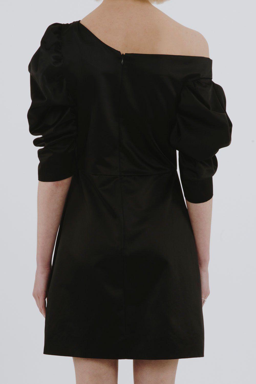 off-shoulder gathered dress - Black Isa Arfen 3A8FWDFZt