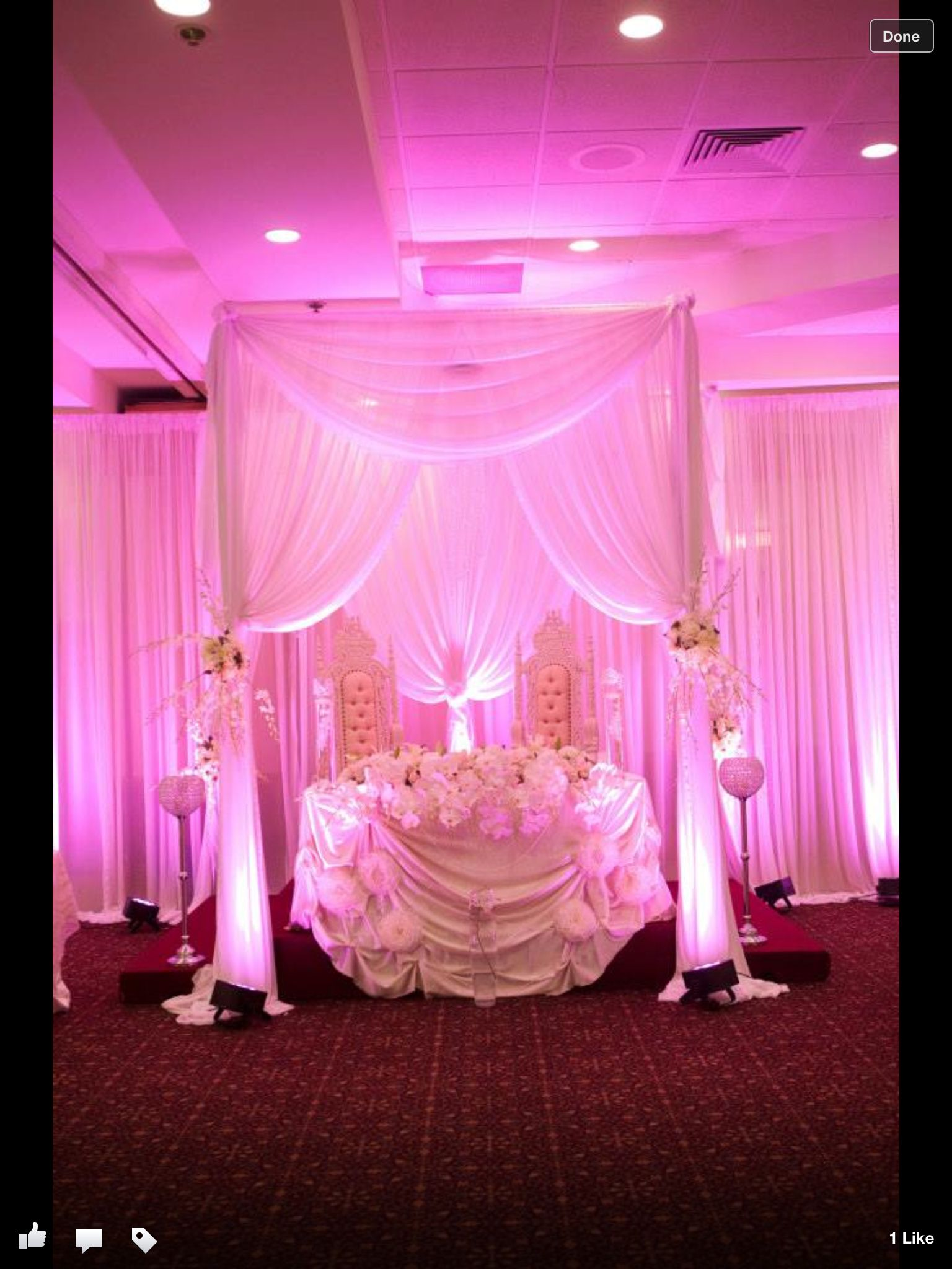 wedding stage decoration pics%0A King and queen chairs