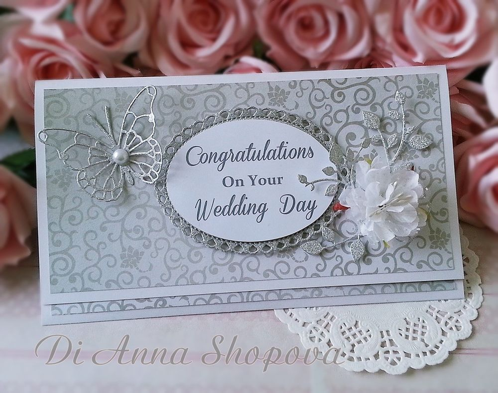 Wedding Cards Handmade Money Envelopes Paper Butterflies