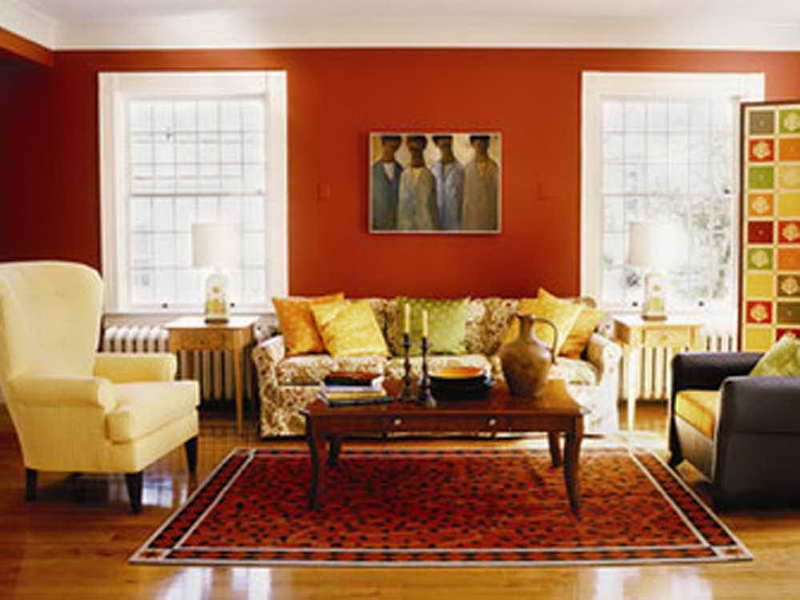 Orange and Beige Living Room Living Room Design Inspirations