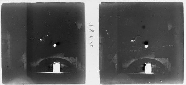 """Esterri d'Àneu_0053. """"Interior de l'església de Santa Maria d'Àneu a contrallum"""", Josep Salvany i Blanch, 1917"""