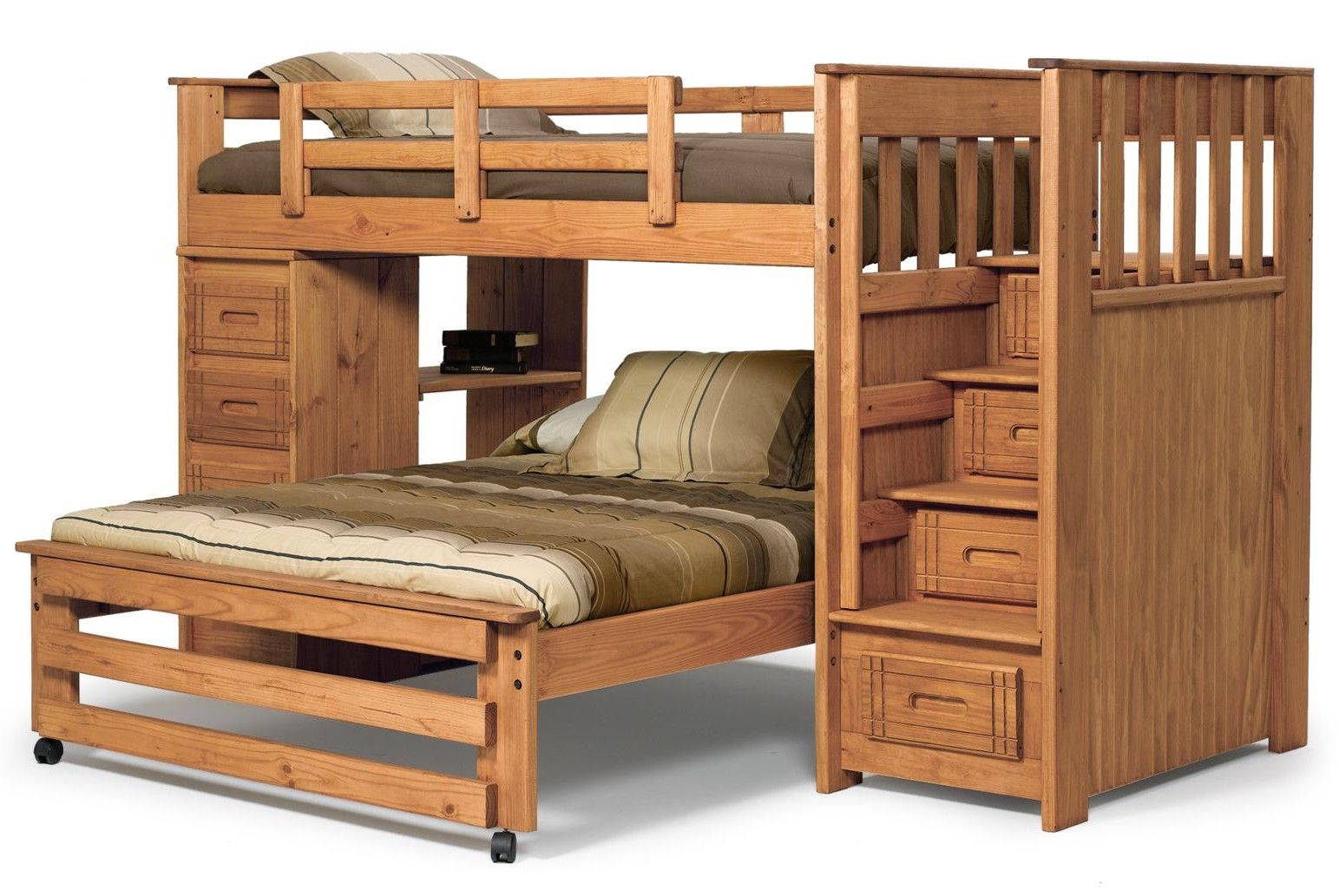21 top wooden lshaped bunk beds with spacesaving