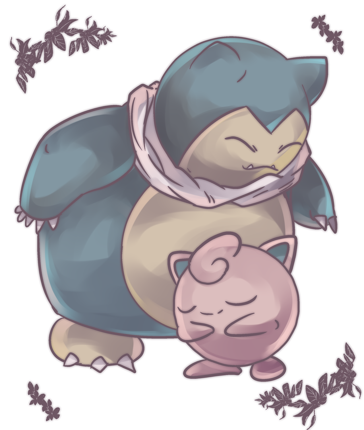 4cbe880b Jigglypuff and Snorlax | Cuteness & Pokemon | Pokemon tattoo, Cute ...