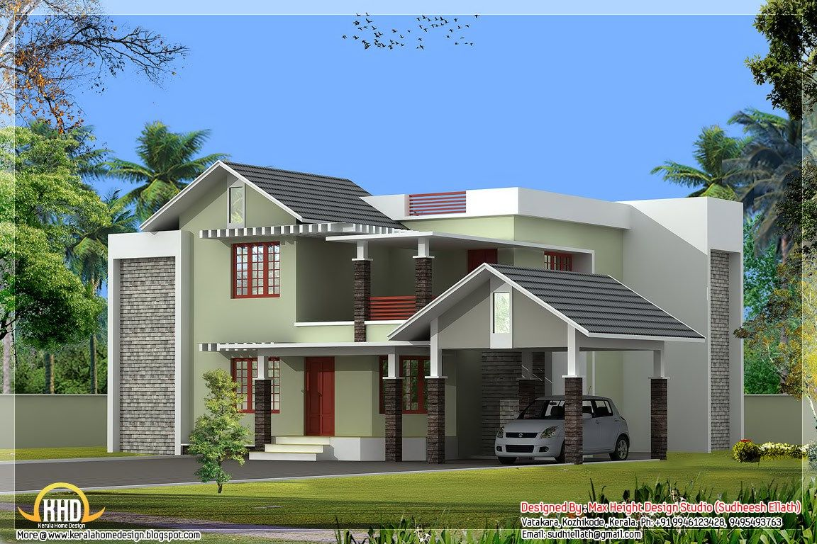 front design of kerala house