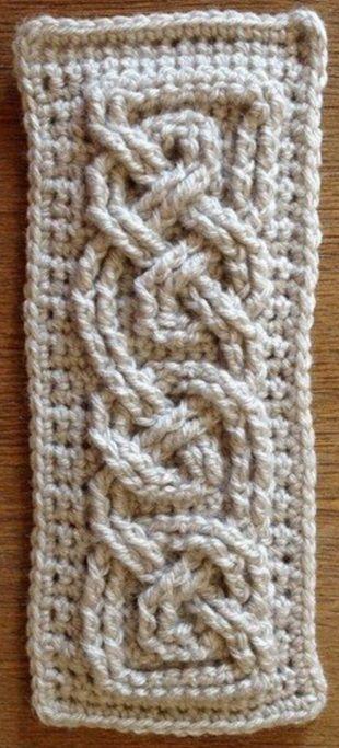 Копилка узоров - Крючком: безотрывное вязание 19
