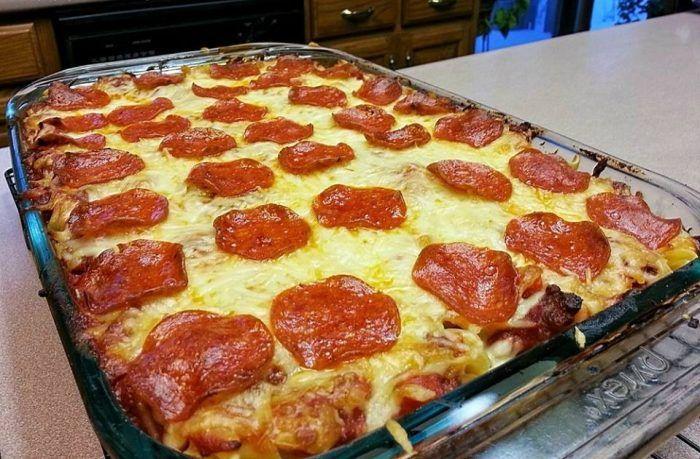 Delicious Pizza Casserole Easy Recipes Delicious Pizza Pizza
