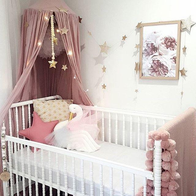 Chambre Bebe Baby Girl Rose Etoiles Dore Stars Pink Gold