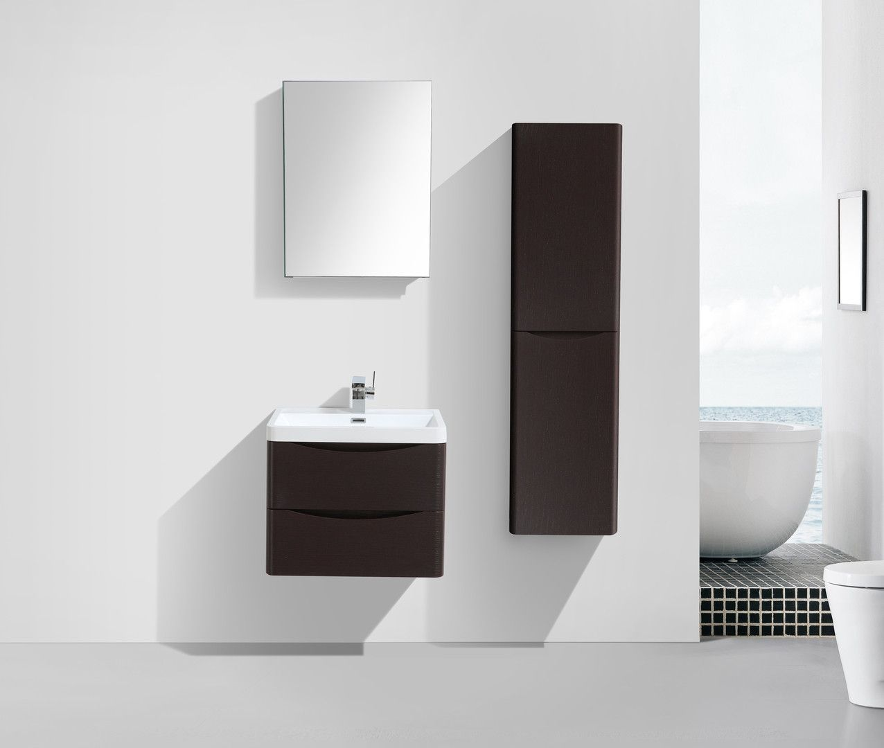 Eviva Smile 24 Chest nut Modern Bathroom Vanity
