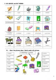 English worksheet: Lexicon for special needs students (Part 2)