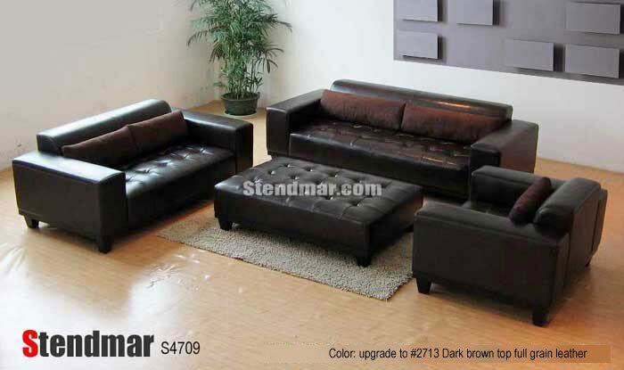 4PC MODERN LEATHER SOFA LOVE CHAIR OTTOMAN S4708Z - Sofa Set - Ideas of Sofa Set #sofa #sofaset -   4PC MODERN LEATHER SOFA LOVE CHAIR OTTOMAN S4708Z  Price : 2645.00