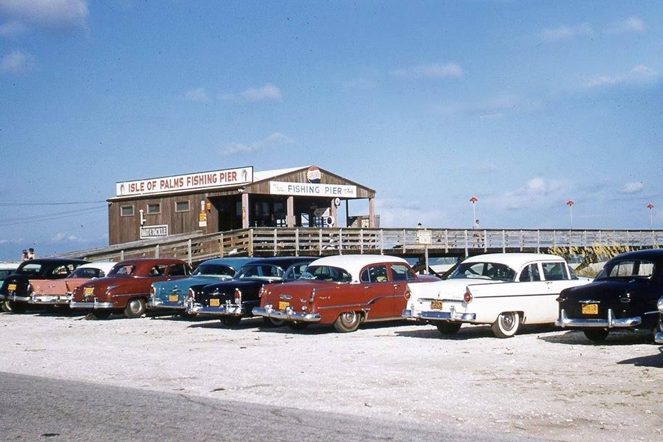 A lot of nice cars at the Isle of Palms fishing pier in the late ...