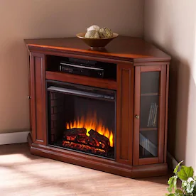 Corner Or Flat Wall Electric Fireplaces At Lowes Com With Images