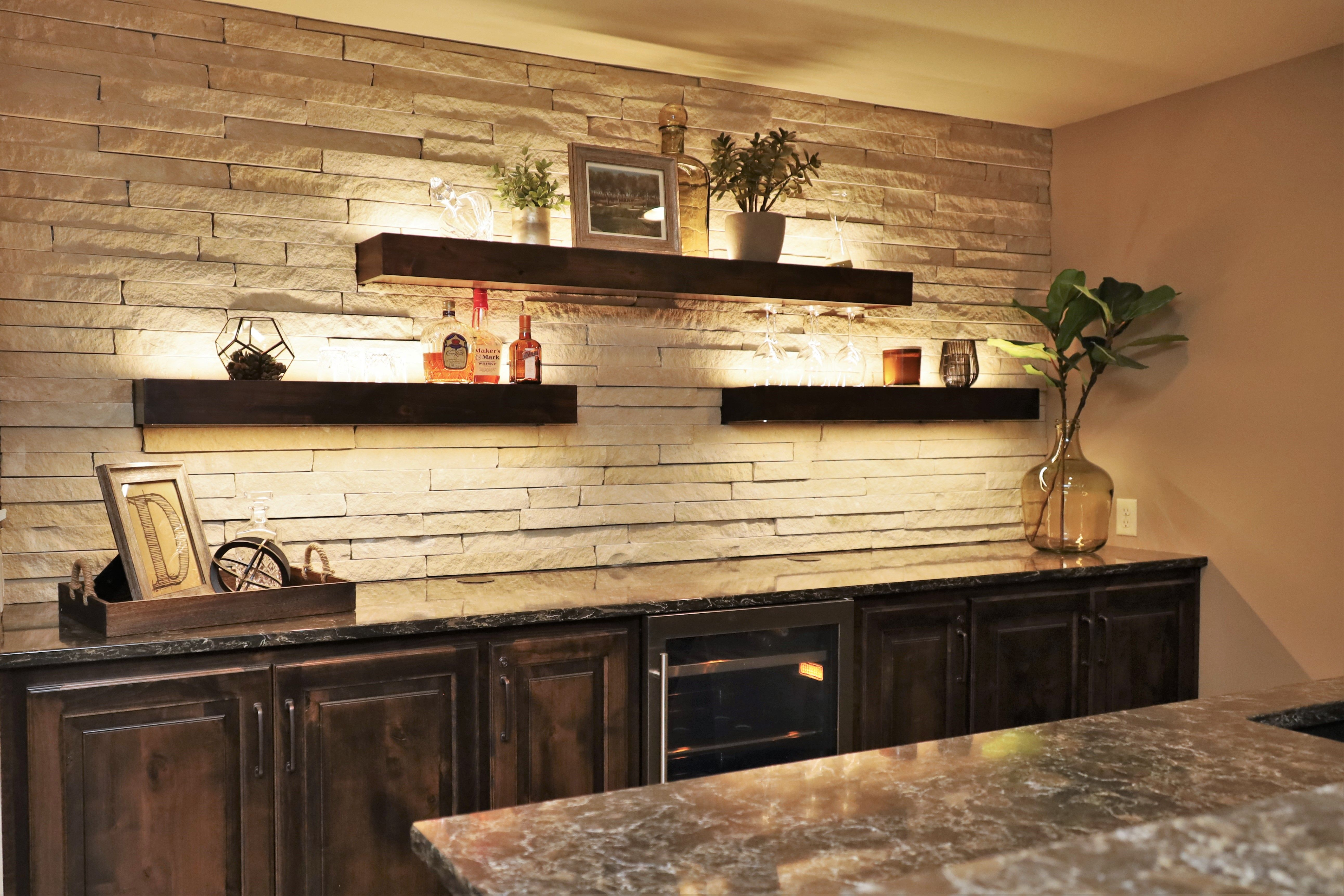 Led Floating Bar Shelves Basement Bar Designs Home Bar Designs Basement Bar Plans