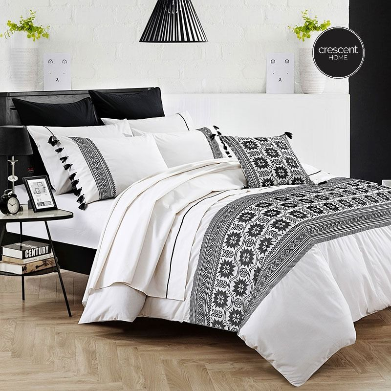 Moroccan Embroidered Quilt Cover Set Quilt Cover Embroidered Quilts Quilt Cover Sets