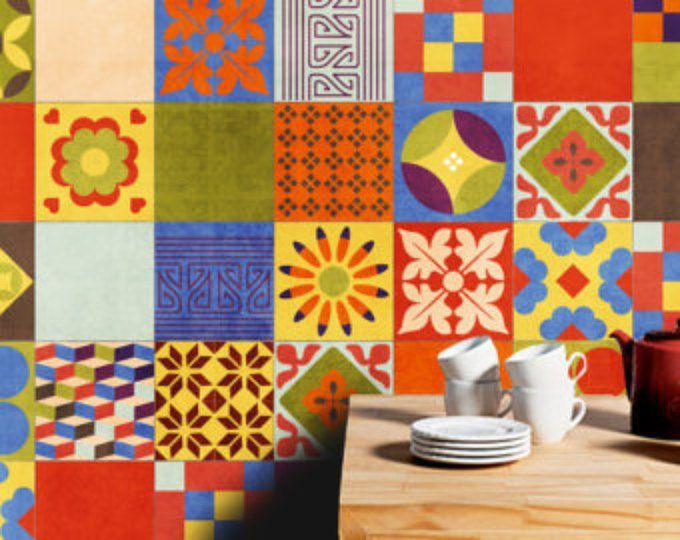 Azulejos espa oles tradicionales pegatinas azulejos for Stickers azulejos cocina