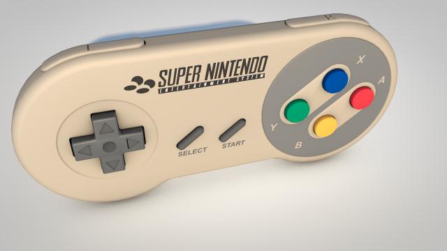 Super Nintendo Controller 3d Model Max C4d Obj 3ds Fbx Lwo Stl 3dexport Com By Myrrdin01