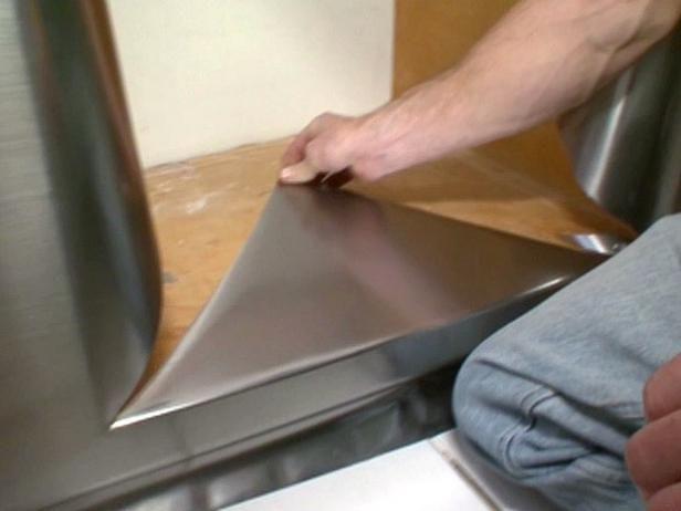 Update a Vanity With Stainless Steel Film Bathroom vanities