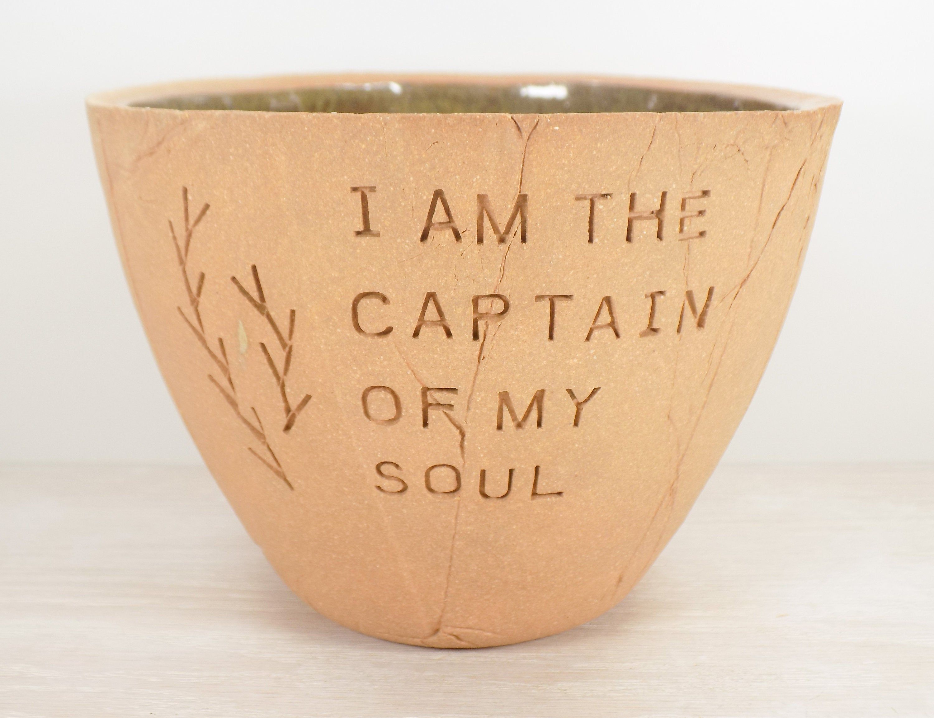 Invictus Pottery Bowl Nelson Mandela William Ernest Henley