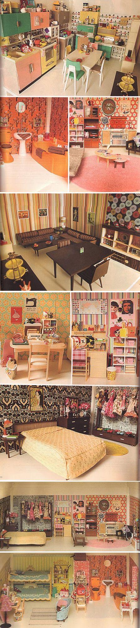 Fantastic Wallpaper and Mid Century Furniture georgiasmith Hip