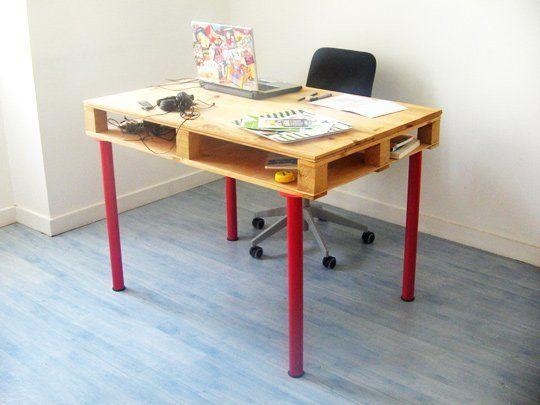 build your own ikea pallet desk ikea pallet desk pallet rh pinterest com