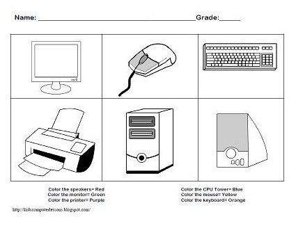 Printables Computer Worksheets 1000 images about worksheets on pinterest computer lab technology and create a character