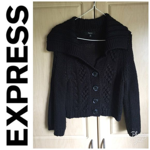 best shoes purchase authentic save off 🎉HostPick🎉Express Black Sweater Cropped Cardigan 🎉Host ...