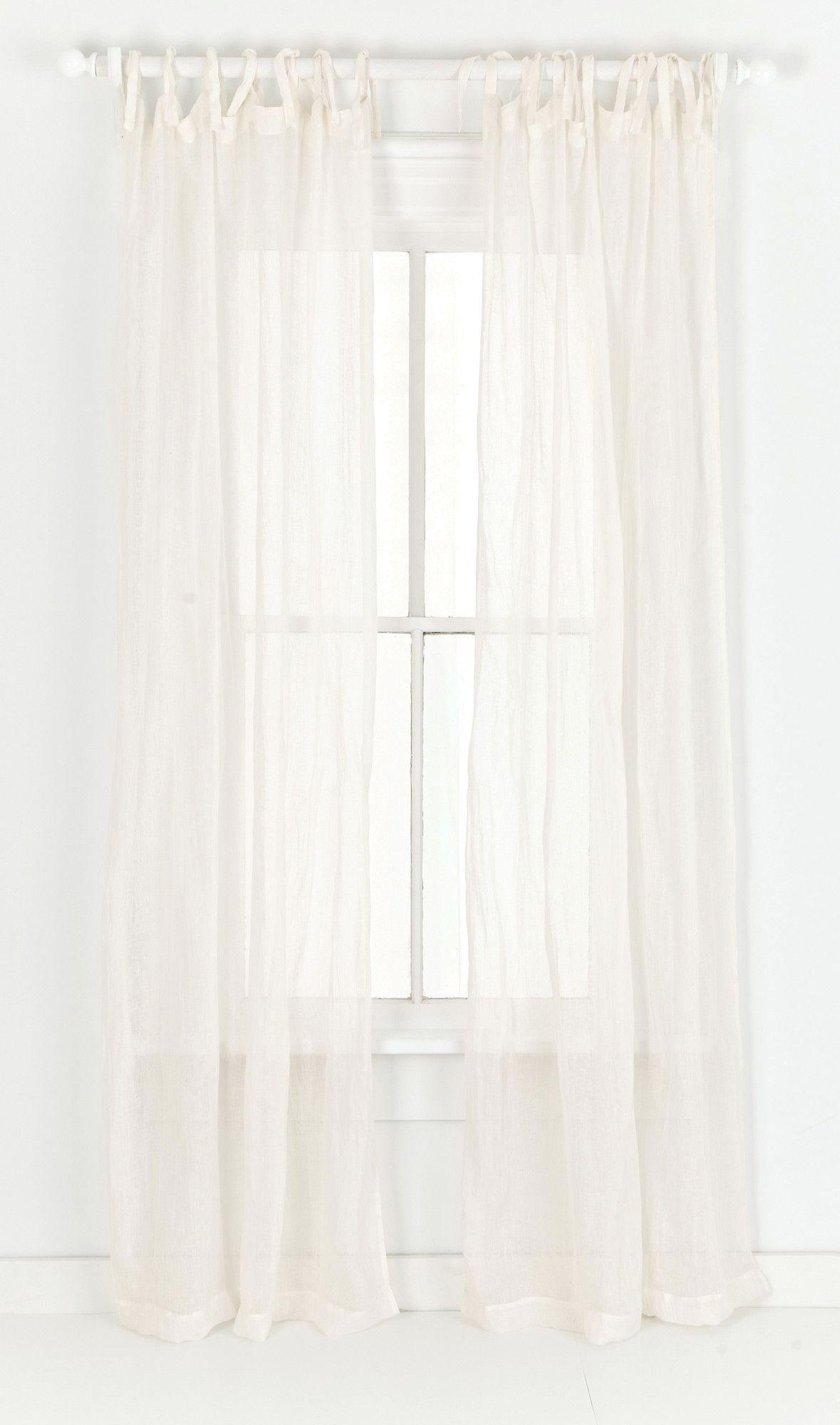 Pine Cone Hill Savannah Linen Gauze Tab Top Curtain Panel | AllModern