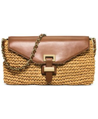 721872efb874b5 MICHAEL Michael Kors Straw Naomi Large Clutch | Handbag Love | Straw ...