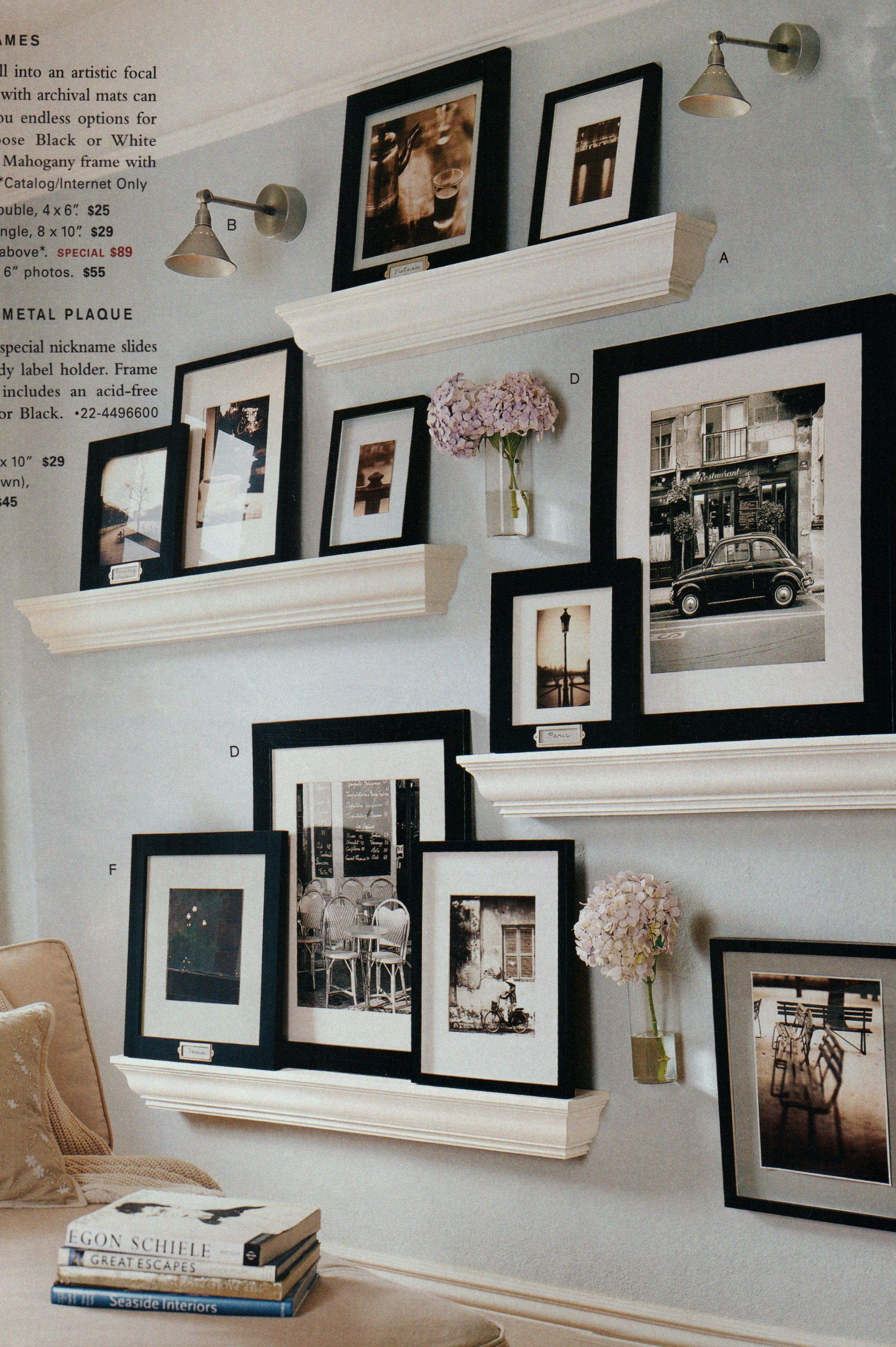 Gallery Wall Shelves And Frames From Pb Gallery Wall Shelves Decor Gallery Shelves