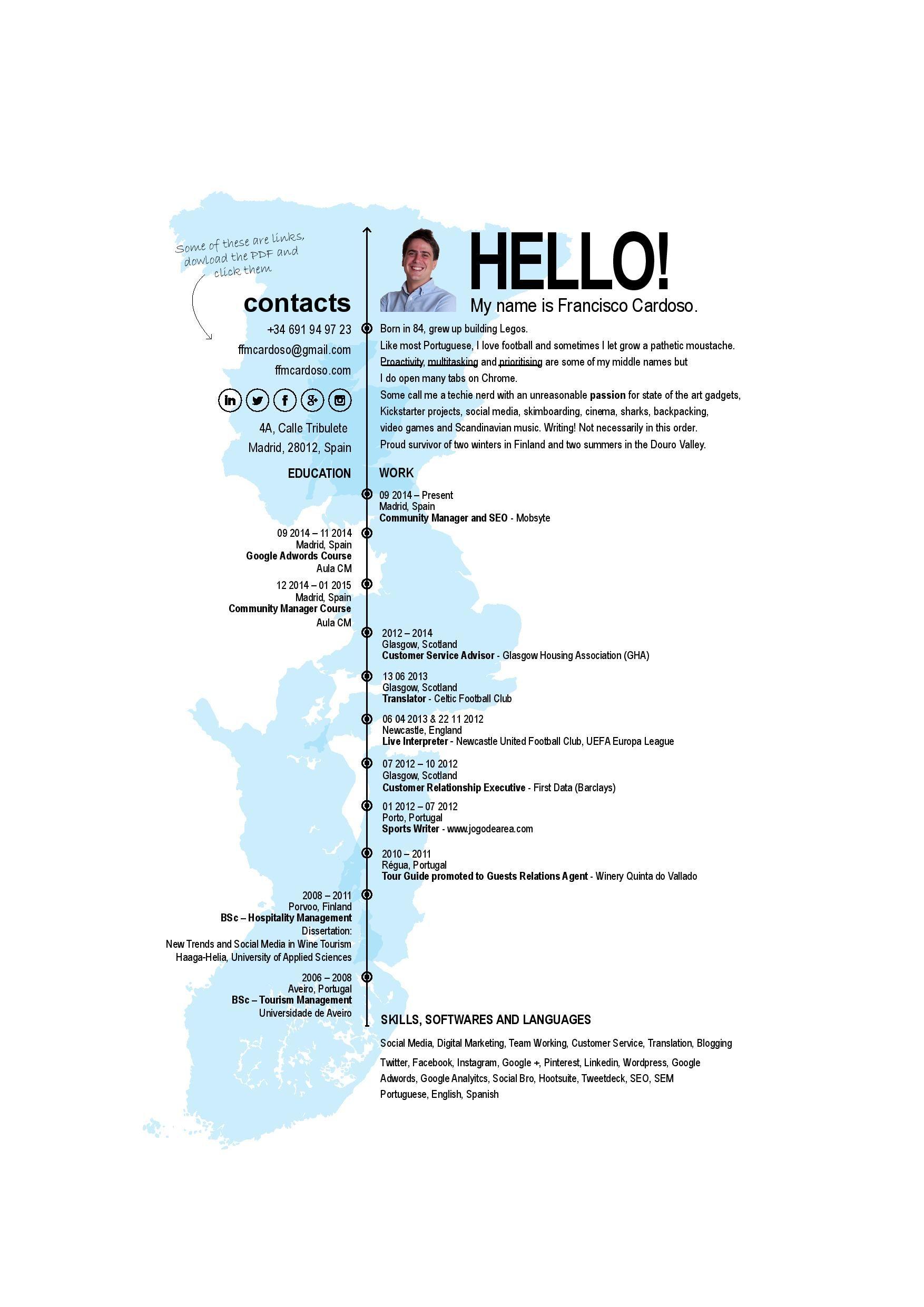 My own creative CV. | Creative CVs | Pinterest