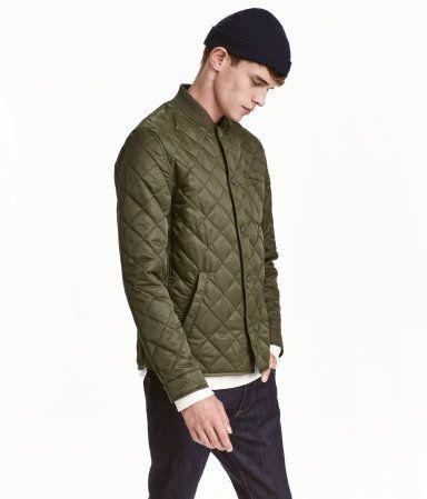 Quilted Jacket | Khaki green | Men | H&M US | StyleTu | Pinterest ... : quilted jacket green - Adamdwight.com
