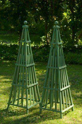 Garden Obelisk Art Sculpture Wooden Stained Hardwood By Curadz 149