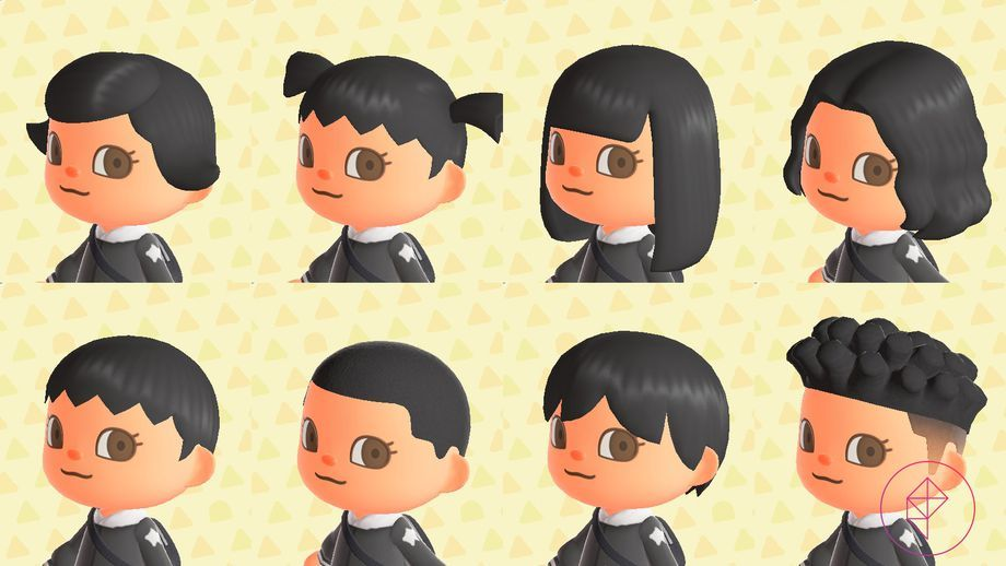 Animal Crossing New Horizons Switch Hair Guide Polygon In 2020 Animal Crossing Hair Animal Crossing Hair Guide