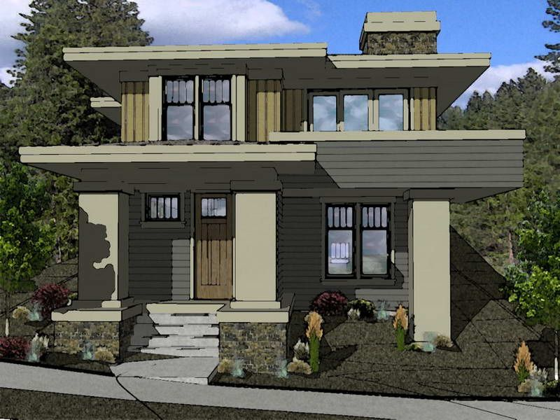 ArchitecturePrairie Style House Plans Raw Design Unique