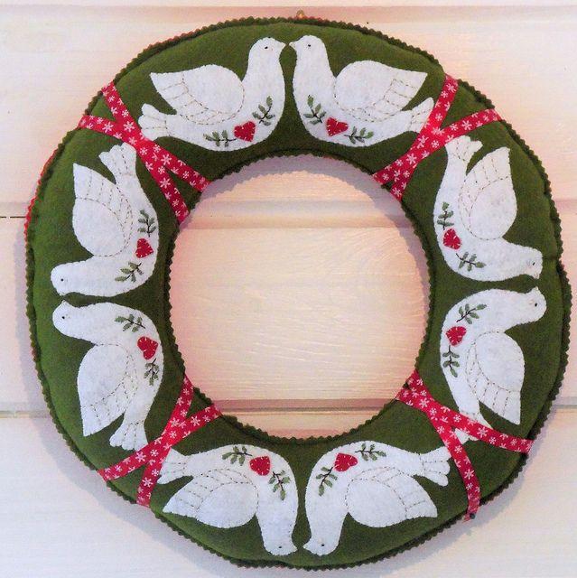 Peace Dove Felt Wreath 8