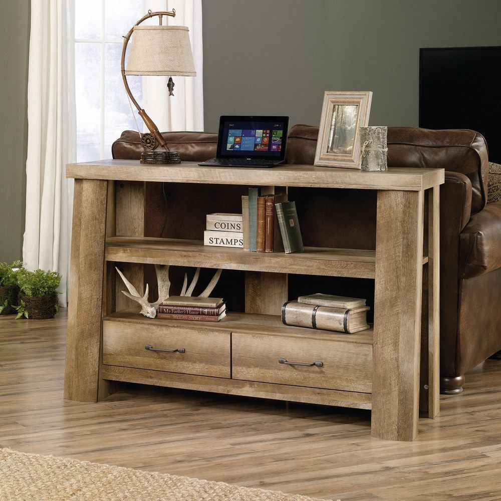 console table tv stand rustic wood oak sofa hall entryway living rh pinterest com